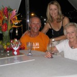 Johann, Henriette and Rosemarie - the day before leaving Grenada