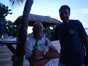 First night at Nanny Cay... having missed the fun!... now in for the run!
