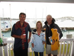 First night after a big trip from BVI to Bermuda! Great crew!!! Loved to have John on board!