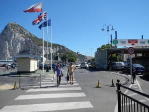 Crossing the border at Gibraltar
