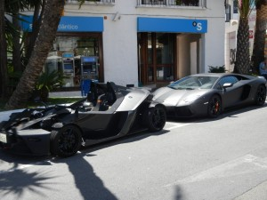 Lamborghini's on every corner! And that in Matt Black!?