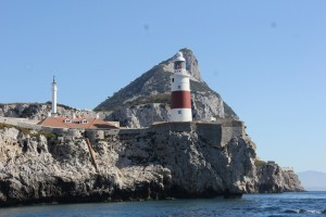 The lighthouse and rock of Gibraltar