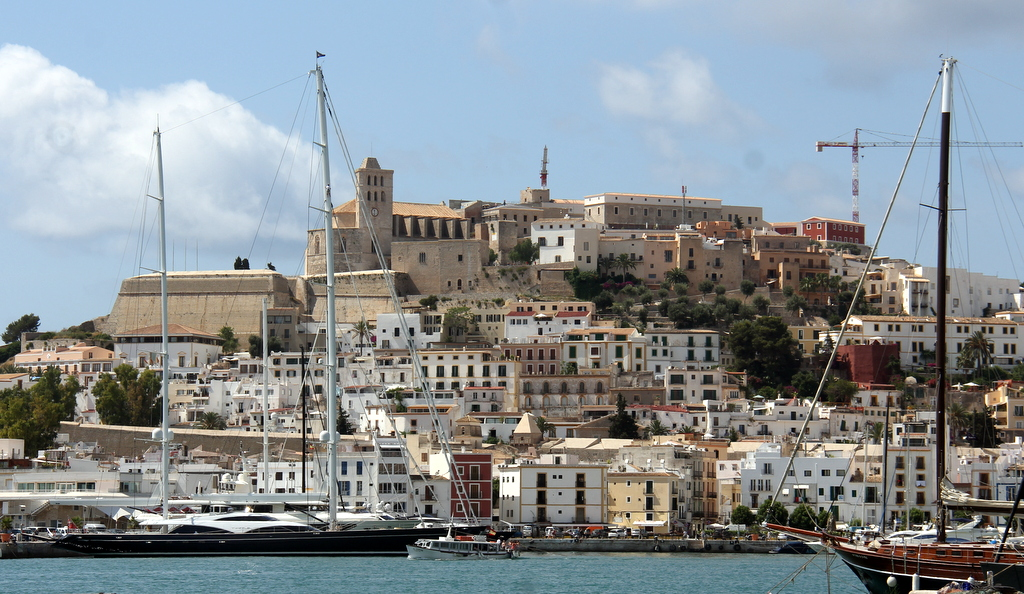 Ibiza with the Cathedral towering above the old city