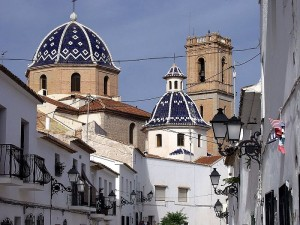 A close-up of the Church in Altea