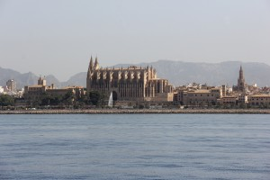 Leaving Palma in smooth waters and no wind