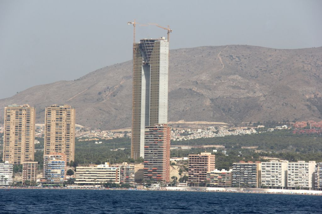 Going Past Benidorm And Altea On Our Way To San Juan