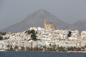 Altea as seen from the sea