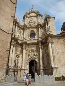 The Cathedral entrance in Valencia