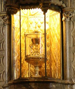 The Holy Grail inside the Cathedral in Valencia