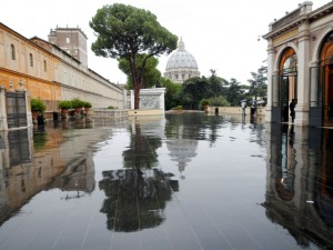 Rain in the Vatican City