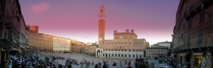 Sunset in Piazza del Campo