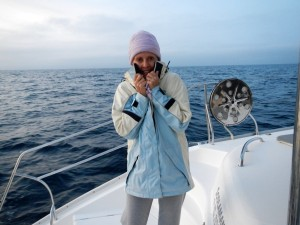 Leaving in bitterly cold weather to start our season of sailing in the Med in 2013!