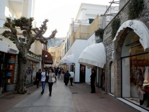 Shopping and Fashion is part and parcle of Capri