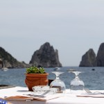 Lunch at a bay overlooking the fabulous Faraglioni rocks