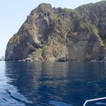 Volcanic plugs all around the Aeolian Islands