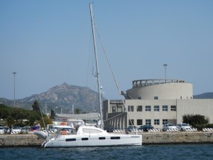 Scolamanzi at Olbia with the National Museum behind it