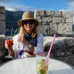 A fun place to be in Korcula - on top of the tower and a cocktail in hand!