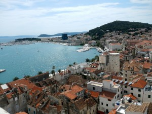 A beautiful view from the Bell Tower over the City of Split