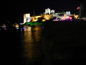 Bodrum's Castle at night