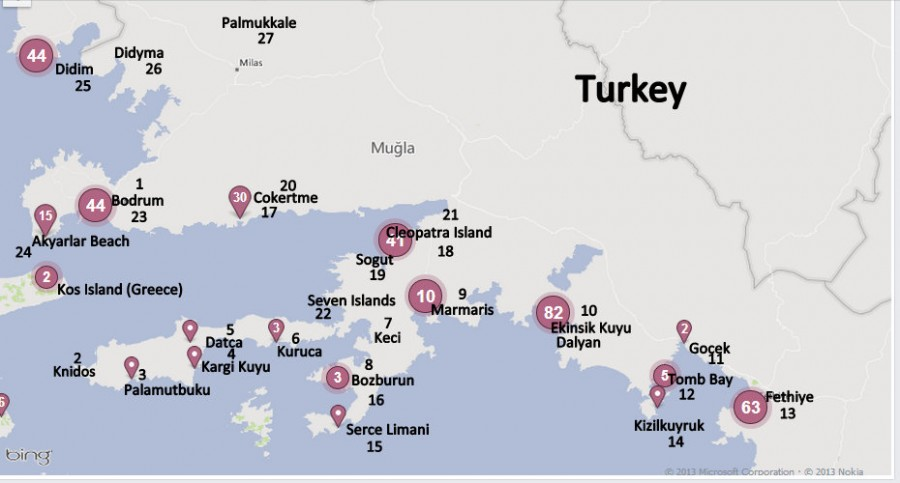 Turkish Map we have travelled