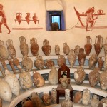 Different shapes of amphorae